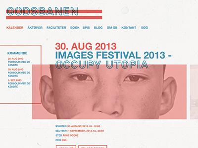 Webdesign event website