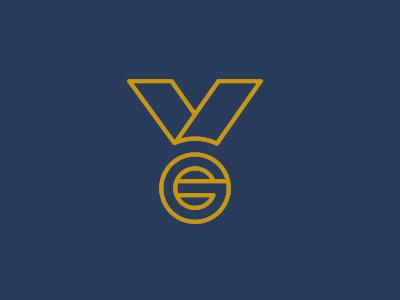 Gold Medal Auctions - Logo Design logo medal auctions gold morten lybech blue