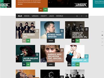 Website website grid filter colours