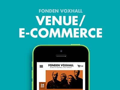 Venue with focus on e-commerce website e-commerce art direction grid shop basket