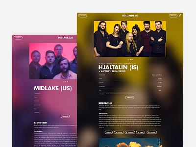 Event Page event blur website concert
