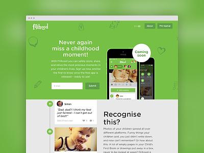 Website startup design idenity app childhood lybech