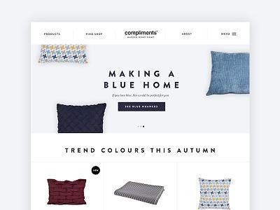 Corporate Website for interior brand interior home design makinghomehome blue website corporate