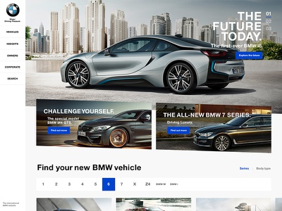 BMW International Website Concept study case responsive concept website bmw