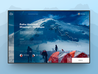 Mountine Expedition site website concept sky expeditions blue webdesign mountine ux ui web artlemon