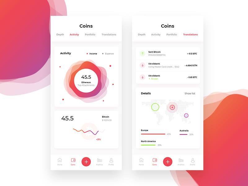 Dribbble shot dashboard mobile