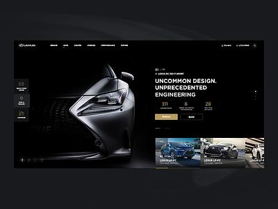 Lexus Concept auto artlemon concept lexus car ui ux website