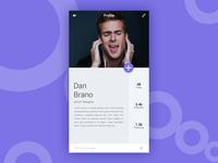 Profile Page Minimal Concept UI