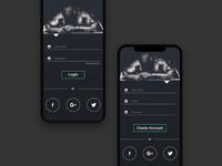 Gym App Login Sign Up UI