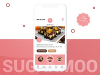 Sugarmoo Cake Delivery Application UI.