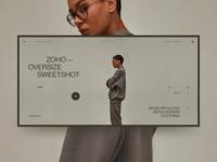 ZOHO online store fashion site web design grid design ux ui