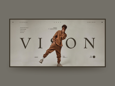 ZOHO online store web site ux ui fashion site design grid web design