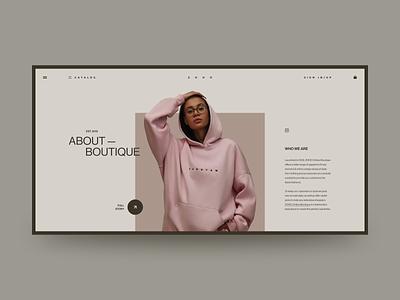 ZOHO - Online Store branding fashion web site site web design grid design ux ui