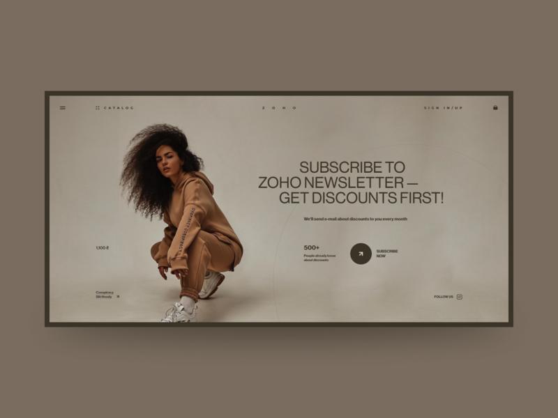 ZOHO - Online Store craft minimal web site fashion site web design grid design ux ui