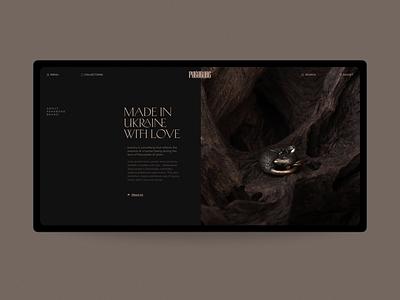 pakabone© Jewelry online store typogaphy minimal store jewelry luxury grid web design