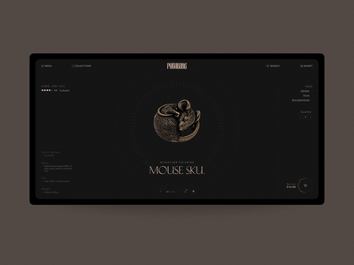pakabone© Jewelry online store website web design ui typography style promo product modern minimalism landing item interface creative concept clean grid store ecommerce luxury jewelry