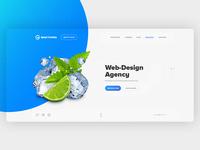 Web design agency, first screen