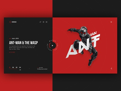 Cinema site web-design concept