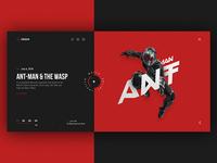 Cinema site web-design concept