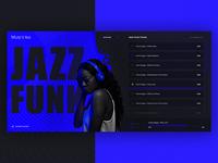 Online Music Portal, concept design