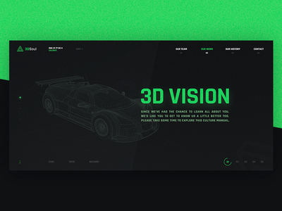 Site Design for 3D company agency ui ux aquamarine dark black design site 3d