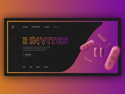 2x Dribbble Invites gradient invites invitation illustraion draft 2 invites giveaway invite
