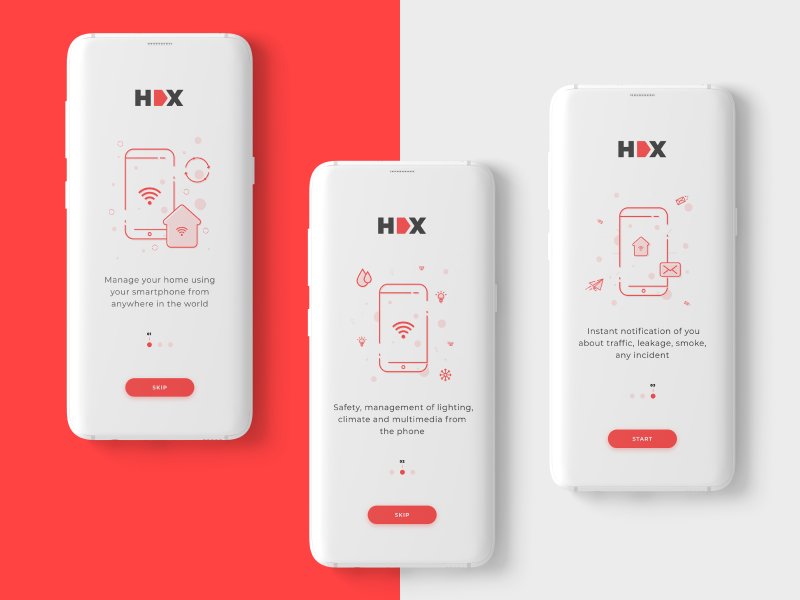 Onboarding for a Smart-Home App ux ui spending onboarding illustration home smart smart home app android