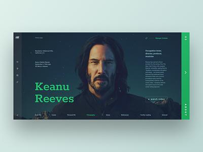 Keanu Reeves concept design grid ux ui design reeves keanu keanu reeves