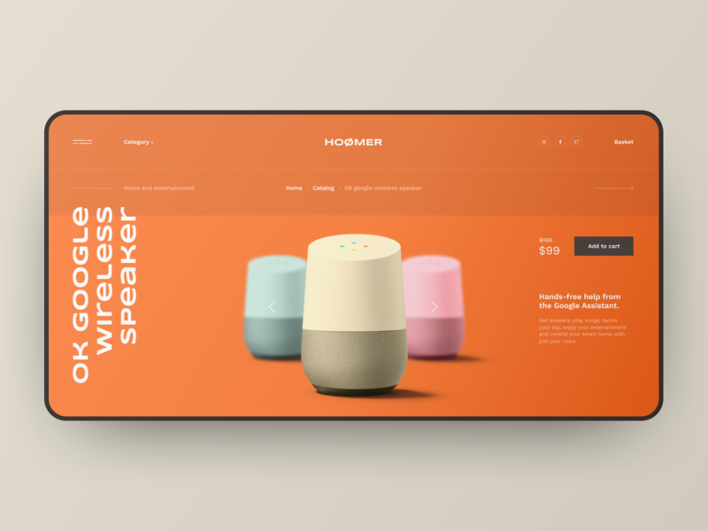 Hoomer,  concept of online store