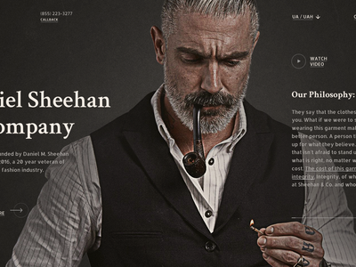 Daniel Sheehan & Company luxury fashion dark web site grid site black web design design ux ui
