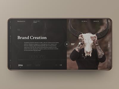 Daniel Sheehan & Company fashion store dark web site grid site black web design design ux ui