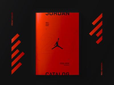 Jordan Catalog dark red graphic design brand grid graphic  design typography shoes catalog design jordan magazine catalog