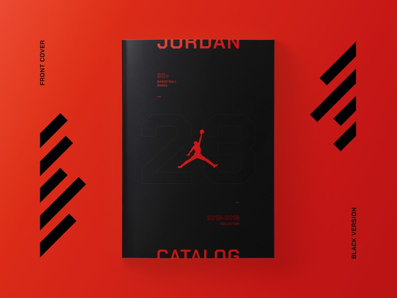 Jordan Catalog dark red graphic design brand grid graphic  design typography shoes catalog design jordan magazine catalog