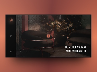 De medici concept page dark fashion web site grid site black web design design ux ui