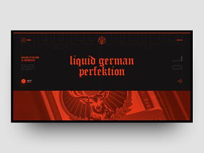 Jagermeister Concept page typograpgy orange layout grid site black web design design ux ui jager jagermeister