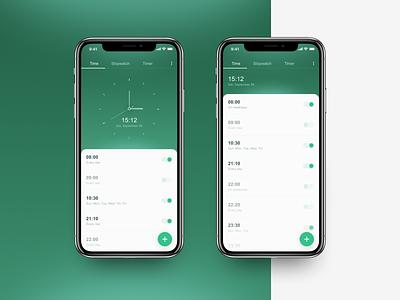 utime... design ux ui clock ios android app application app design