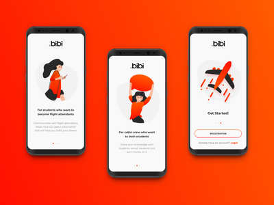 Bibi Application app design mobile onboarding splash screen ui ux application app