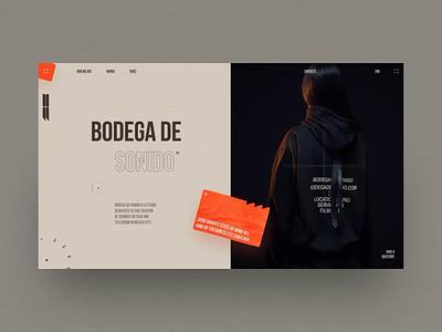 Bodega De Sonido interaction animation web design ui ux design grid site website fashion desktop