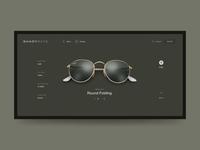 ShadyRays layout grid minimal interaction animation fashion desktop web design website