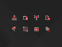 Icons - Files.com secure encryption vectors tripple tone duotone line icons security vector icon set illustration design bold red light dark icons files