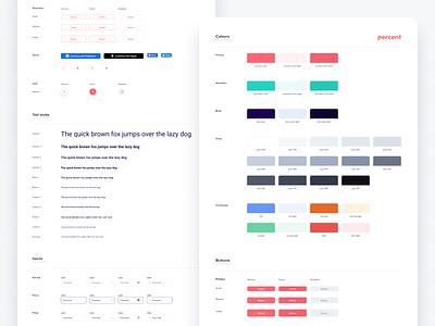 Percent Styleguide typography design system styleguide ui design