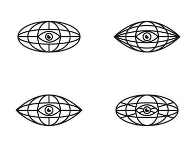 The All Seeing Eye design concept concept black white logo mark logo concepts logo concept eyes eye earth eye logo emblem earth eye planet all seeing eye eye monochrome symbol logotype minimalism logo