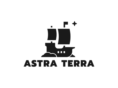 Astra Terra black and white blackandwhite ship logotype mark symbol logotype monochrome minimalism emblem ship logo ship logo