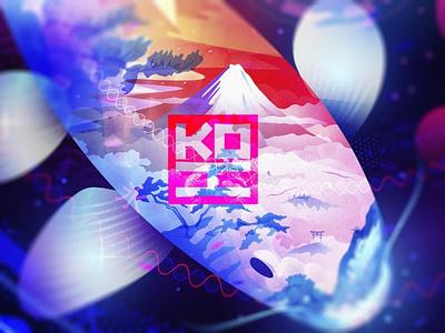 KOI cinema history emblem illustration illus graphic design fnd nft motion graphics animation japan design symbol music fish