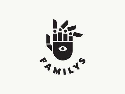 FAMILYS psychologist psychotherapy psychological psychology parents parent childrens family tree family symbol finger hand logotype logotype emblem hand logo fingers hand logo minimalism monochrome