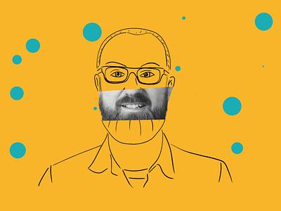 Meet the team - Leigh portrait gif motion graphics leeds illustration animation