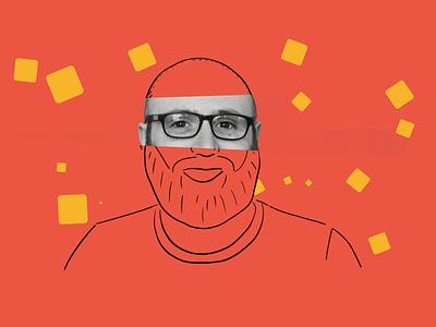 Meet the Team - Matt gif animation portrait gif motion graphics leeds illustration animation