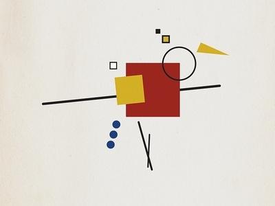 Bauhaus bird motion vectorillustration kandinsky vector art vector yorkshire motion designer motion design bauhaus motion graphics leeds illustration animation
