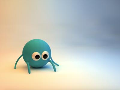 3D Ball character