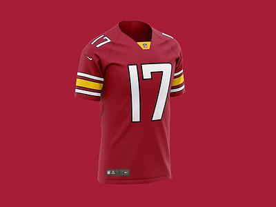 Washington Red Hawks (Redskins Rebrand) Team Concept Jersey 2020 red hawks washington dc redbrand redskins washington redskins washington nfc fantasy football nflpa nfl100 nfl football espn nike